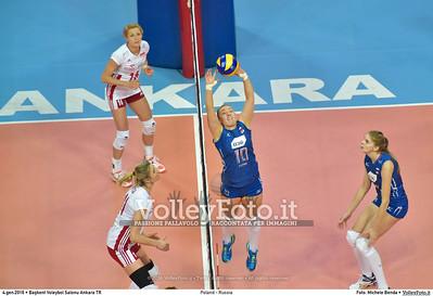 Poland - Russia POOL B - 2016 European Olympic Qualification - Women | Başkent Voleybol Salonu Ankara, Türkiye, 04.01.2016 FOTO: Michele Benda © 2016 Volleyfoto.it, all rights reserved [id:20160104.MB2_6845]