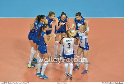 Poland - Russia POOL B - 2016 European Olympic Qualification - Women   Başkent Voleybol Salonu Ankara, Türkiye, 04.01.2016 FOTO: Michele Benda © 2016 Volleyfoto.it, all rights reserved [id:20160104.MB2_6833]