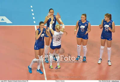 Poland - Russia POOL B - 2016 European Olympic Qualification - Women   Başkent Voleybol Salonu Ankara, Türkiye, 04.01.2016 FOTO: Michele Benda © 2016 Volleyfoto.it, all rights reserved [id:20160104.MB2_6831]