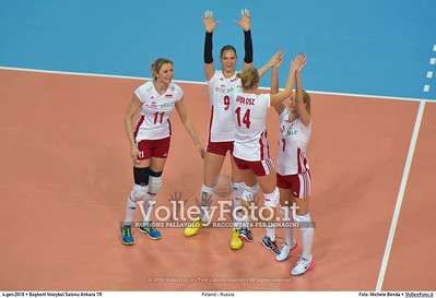 Poland - Russia POOL B - 2016 European Olympic Qualification - Women   Başkent Voleybol Salonu Ankara, Türkiye, 04.01.2016 FOTO: Michele Benda © 2016 Volleyfoto.it, all rights reserved [id:20160104.MB2_6816]