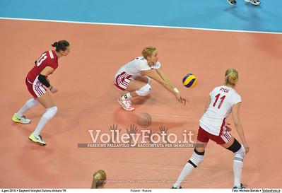 Poland - Russia POOL B - 2016 European Olympic Qualification - Women | Başkent Voleybol Salonu Ankara, Türkiye, 04.01.2016 FOTO: Michele Benda © 2016 Volleyfoto.it, all rights reserved [id:20160104.MB2_6837]