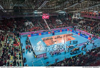 Germany - Turkey POOL A - 2016 European Olympic Qualification - Women | Başkent Voleybol Salonu Ankara, Türkiye, 05.01.2016 FOTO: Michele Benda © 2016 Volleyfoto.it, all rights reserved [id:20160105._MBK2085]
