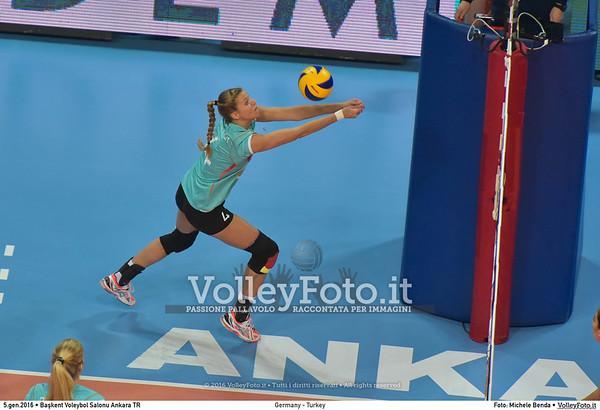 Germany - Turkey POOL A - 2016 European Olympic Qualification - Women | Başkent Voleybol Salonu Ankara, Türkiye, 05.01.2016 FOTO: Michele Benda © 2016 Volleyfoto.it, all rights reserved [id:20160105.MB2_8438]