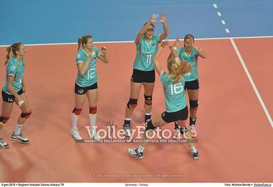 Germany - Turkey POOL A - 2016 European Olympic Qualification - Women | Başkent Voleybol Salonu Ankara, Türkiye, 05.01.2016 FOTO: Michele Benda © 2016 Volleyfoto.it, all rights reserved [id:20160105.MB2_8419]