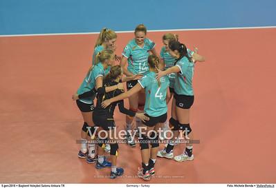 Germany - Turkey POOL A - 2016 European Olympic Qualification - Women | Başkent Voleybol Salonu Ankara, Türkiye, 05.01.2016 FOTO: Michele Benda © 2016 Volleyfoto.it, all rights reserved [id:20160105.MB2_8422]