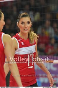 Germany - Turkey POOL A - 2016 European Olympic Qualification - Women | Başkent Voleybol Salonu Ankara, Türkiye, 05.01.2016 FOTO: Michele Benda © 2016 Volleyfoto.it, all rights reserved [id:20160105.MB2_8468]