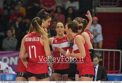 Germany - Turkey POOL A - 2016 European Olympic Qualification - Women | Başkent Voleybol Salonu Ankara, Türkiye, 05.01.2016 FOTO: Michele Benda © 2016 Volleyfoto.it, all rights reserved [id:20160105.MB2_8451]