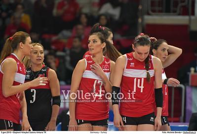 Germany - Turkey POOL A - 2016 European Olympic Qualification - Women | Başkent Voleybol Salonu Ankara, Türkiye, 05.01.2016 FOTO: Michele Benda © 2016 Volleyfoto.it, all rights reserved [id:20160105.MB2_8455]