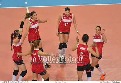 Germany - Turkey POOL A - 2016 European Olympic Qualification - Women | Başkent Voleybol Salonu Ankara, Türkiye, 05.01.2016 FOTO: Michele Benda © 2016 Volleyfoto.it, all rights reserved [id:20160105.MB2_8434]