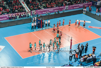 Germany - Turkey POOL A - 2016 European Olympic Qualification - Women | Başkent Voleybol Salonu Ankara, Türkiye, 05.01.2016 FOTO: Michele Benda © 2016 Volleyfoto.it, all rights reserved [id:20160105._MBK2087]
