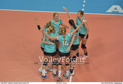 Germany - Turkey POOL A - 2016 European Olympic Qualification - Women | Başkent Voleybol Salonu Ankara, Türkiye, 05.01.2016 FOTO: Michele Benda © 2016 Volleyfoto.it, all rights reserved [id:20160105.MB2_8448]