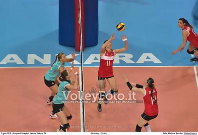 Germany - Turkey POOL A - 2016 European Olympic Qualification - Women | Başkent Voleybol Salonu Ankara, Türkiye, 05.01.2016 FOTO: Michele Benda © 2016 Volleyfoto.it, all rights reserved [id:20160105.MB2_8446]