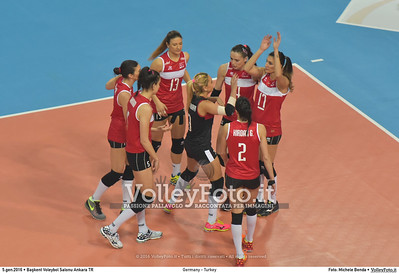 Germany - Turkey POOL A - 2016 European Olympic Qualification - Women | Başkent Voleybol Salonu Ankara, Türkiye, 05.01.2016 FOTO: Michele Benda © 2016 Volleyfoto.it, all rights reserved [id:20160105.MB2_8428]