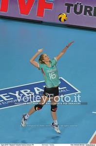 Germany - Turkey POOL A - 2016 European Olympic Qualification - Women | Başkent Voleybol Salonu Ankara, Türkiye, 05.01.2016 FOTO: Michele Benda © 2016 Volleyfoto.it, all rights reserved [id:20160105.MB2_8441]