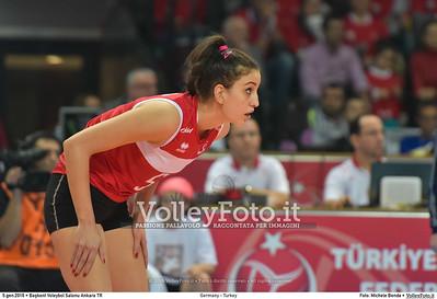 Germany - Turkey POOL A - 2016 European Olympic Qualification - Women | Başkent Voleybol Salonu Ankara, Türkiye, 05.01.2016 FOTO: Michele Benda © 2016 Volleyfoto.it, all rights reserved [id:20160105.MB2_8457]