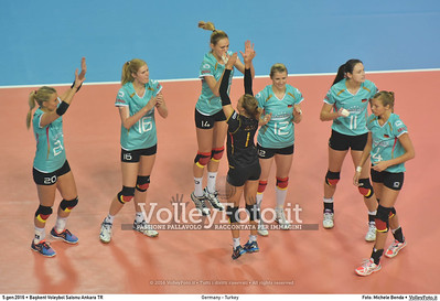 Germany - Turkey POOL A - 2016 European Olympic Qualification - Women | Başkent Voleybol Salonu Ankara, Türkiye, 05.01.2016 FOTO: Michele Benda © 2016 Volleyfoto.it, all rights reserved [id:20160105.MB2_8421]