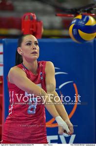 Italy - Russia POOL B - 2016 European Olympic Qualification - Women | Başkent Voleybol Salonu Ankara, Türkiye, 05.01.2016 FOTO: Michele Benda © 2016 Volleyfoto.it, all rights reserved [id:20160105.MB2_7553]