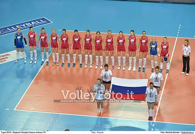 Italy - Russia POOL B - 2016 European Olympic Qualification - Women | Başkent Voleybol Salonu Ankara, Türkiye, 05.01.2016 FOTO: Michele Benda © 2016 Volleyfoto.it, all rights reserved [id:20160105.MB2_7609]