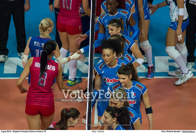 Italy - Russia POOL B - 2016 European Olympic Qualification - Women | Başkent Voleybol Salonu Ankara, Türkiye, 05.01.2016 FOTO: Michele Benda © 2016 Volleyfoto.it, all rights reserved [id:20160105.MBQ_2538]