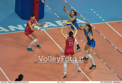 Italy - Russia POOL B - 2016 European Olympic Qualification - Women | Başkent Voleybol Salonu Ankara, Türkiye, 05.01.2016 FOTO: Michele Benda © 2016 Volleyfoto.it, all rights reserved [id:20160105.MB2_7654]