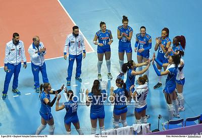 Italy - Russia POOL B - 2016 European Olympic Qualification - Women | Başkent Voleybol Salonu Ankara, Türkiye, 05.01.2016 FOTO: Michele Benda © 2016 Volleyfoto.it, all rights reserved [id:20160105.MB2_7637]