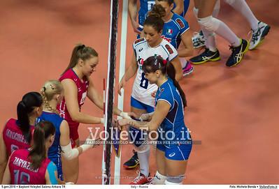 Italy - Russia POOL B - 2016 European Olympic Qualification - Women | Başkent Voleybol Salonu Ankara, Türkiye, 05.01.2016 FOTO: Michele Benda © 2016 Volleyfoto.it, all rights reserved [id:20160105.MBQ_2535]