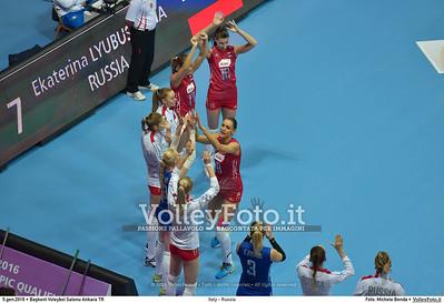 Italy - Russia POOL B - 2016 European Olympic Qualification - Women | Başkent Voleybol Salonu Ankara, Türkiye, 05.01.2016 FOTO: Michele Benda © 2016 Volleyfoto.it, all rights reserved [id:20160105.MB2_7630]