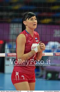 Italy - Russia POOL B - 2016 European Olympic Qualification - Women | Başkent Voleybol Salonu Ankara, Türkiye, 05.01.2016 FOTO: Michele Benda © 2016 Volleyfoto.it, all rights reserved [id:20160105.MB2_7561]