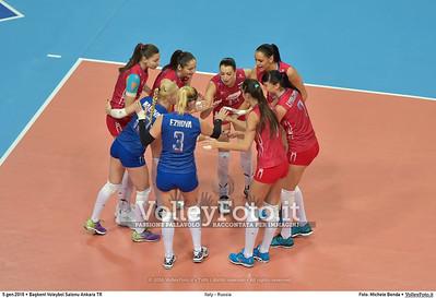 Italy - Russia POOL B - 2016 European Olympic Qualification - Women | Başkent Voleybol Salonu Ankara, Türkiye, 05.01.2016 FOTO: Michele Benda © 2016 Volleyfoto.it, all rights reserved [id:20160105.MB2_7634]