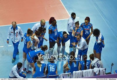 Italy - Russia POOL B - 2016 European Olympic Qualification - Women | Başkent Voleybol Salonu Ankara, Türkiye, 05.01.2016 FOTO: Michele Benda © 2016 Volleyfoto.it, all rights reserved [id:20160105.MB2_7622]