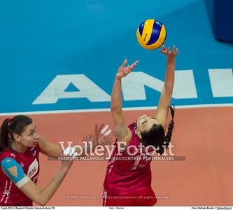 Italy - Russia POOL B - 2016 European Olympic Qualification - Women | Başkent Voleybol Salonu Ankara, Türkiye, 05.01.2016 FOTO: Michele Benda © 2016 Volleyfoto.it, all rights reserved [id:20160105.MBQ_2545]