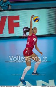 Italy - Russia POOL B - 2016 European Olympic Qualification - Women | Başkent Voleybol Salonu Ankara, Türkiye, 05.01.2016 FOTO: Michele Benda © 2016 Volleyfoto.it, all rights reserved [id:20160105.MBQ_2542]