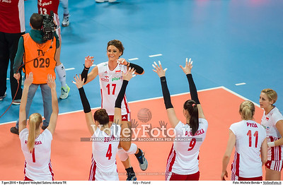 Italy - Poland POOL B - 2016 European Olympic Qualification - Women | Başkent Voleybol Salonu Ankara, Türkiye, 07.01.2016 FOTO: Michele Benda © 2016 Volleyfoto.it, all rights reserved [id:20160107._MBK2709]
