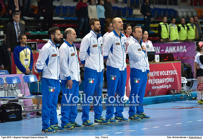Italy - Poland POOL B - 2016 European Olympic Qualification - Women | Başkent Voleybol Salonu Ankara, Türkiye, 07.01.2016 FOTO: Michele Benda © 2016 Volleyfoto.it, all rights reserved [id:20160107.MB2_0423]