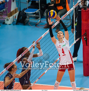 Italy - Poland POOL B - 2016 European Olympic Qualification - Women | Başkent Voleybol Salonu Ankara, Türkiye, 07.01.2016 FOTO: Michele Benda © 2016 Volleyfoto.it, all rights reserved [id:20160107._MBK2741]