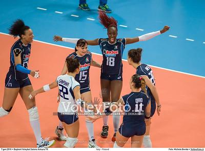 Italy - Poland POOL B - 2016 European Olympic Qualification - Women   Başkent Voleybol Salonu Ankara, Türkiye, 07.01.2016 FOTO: Michele Benda © 2016 Volleyfoto.it, all rights reserved [id:20160107._MBK2747]