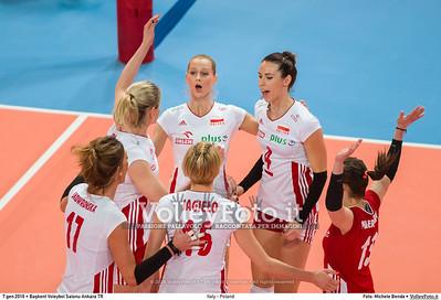 Italy - Poland POOL B - 2016 European Olympic Qualification - Women | Başkent Voleybol Salonu Ankara, Türkiye, 07.01.2016 FOTO: Michele Benda © 2016 Volleyfoto.it, all rights reserved [id:20160107._MBK2744]