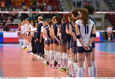 Italy - Poland POOL B - 2016 European Olympic Qualification - Women | Başkent Voleybol Salonu Ankara, Türkiye, 07.01.2016 FOTO: Michele Benda © 2016 Volleyfoto.it, all rights reserved [id:20160107.MB2_0409]