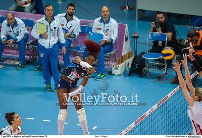 Italy - Poland POOL B - 2016 European Olympic Qualification - Women | Başkent Voleybol Salonu Ankara, Türkiye, 07.01.2016 FOTO: Michele Benda © 2016 Volleyfoto.it, all rights reserved [id:20160107._MBK2738]