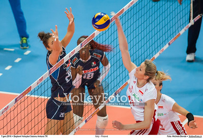 Italy - Poland POOL B - 2016 European Olympic Qualification - Women | Başkent Voleybol Salonu Ankara, Türkiye, 07.01.2016 FOTO: Michele Benda © 2016 Volleyfoto.it, all rights reserved [id:20160107._MBK2742]