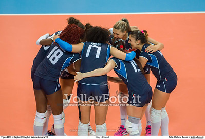 Italy - Poland POOL B - 2016 European Olympic Qualification - Women | Başkent Voleybol Salonu Ankara, Türkiye, 07.01.2016 FOTO: Michele Benda © 2016 Volleyfoto.it, all rights reserved [id:20160107._MBK2726]