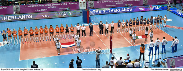 The Netherlands - Italy SEMIFINAL - 2016 European Olympic Qualification - Women | Başkent Voleybol Salonu Ankara, Türkiye, 08.01.2016 FOTO: Michele Benda © 2016 Volleyfoto.it, all rights reserved [id:20160108.MB2_1056-Pano]