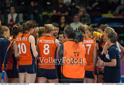 Russia - The Netherlands FINAL - 2016 European Olympic Qualification - Women | Başkent Voleybol Salonu Ankara, Türkiye, 09.01.2016 FOTO: Michele Benda © 2016 Volleyfoto.it, all rights reserved [id:20160109._MBK4736]