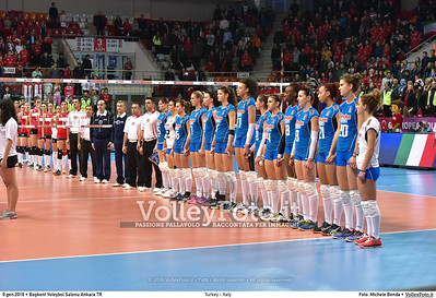 Turkey - Italy Final 3rd place - 2016 European Olympic Qualification - Women | Başkent Voleybol Salonu Ankara, Türkiye, 08.01.2016 FOTO: Michele Benda © 2016 Volleyfoto.it, all rights reserved [id:20160109.MB2_1514]