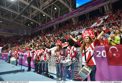 Russia - Turkey SEMIFINAL - 2016 European Olympic Qualification - Women | Başkent Voleybol Salonu Ankara, Türkiye, 08.01.2016 FOTO: Michele Benda © 2016 Volleyfoto.it, all rights reserved [id:20160108.MB2_1303]