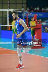 Nemanja PETRIC, #4 of Serbia durante AUSTRALIA vs SERBIA, 2019 FIVB Intercontinental Olympic Qualification Tournament - Men's Pool C IT, 9 agosto 2019. Foto: Michele Benda per VolleyFoto.it [riferimento file: 2019-08-09/ND5_5054]