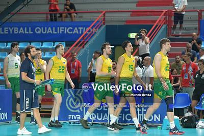 AUSTRALIA vs SERBIA, 2019 FIVB Intercontinental Olympic Qualification Tournament - Men's Pool C IT, 9 agosto 2019. Foto: Michele Benda per VolleyFoto.it [riferimento file: 2019-08-09/ND5_5088]