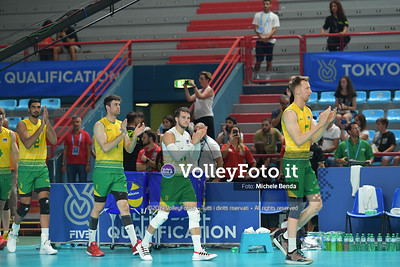 AUSTRALIA vs SERBIA, 2019 FIVB Intercontinental Olympic Qualification Tournament - Men's Pool C IT, 9 agosto 2019. Foto: Michele Benda per VolleyFoto.it [riferimento file: 2019-08-09/ND5_5083]