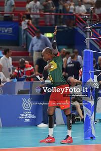 ITALIA vs CAMERUN, 2019 FIVB Intercontinental Olympic Qualification Tournament - Men's Pool C IT, 9 agosto 2019. Foto: Michele Benda per VolleyFoto.it [riferimento file: 2019-08-09/ND5_5407]