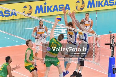 ITALIA vs AUSTRALIA, 2019 FIVB Intercontinental Olympic Qualification Tournament - Men's Pool C IT, 10 agosto 2019. Foto: Michele Benda per VolleyFoto.it [riferimento file: 2019-08-10/ND5_6192]